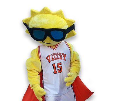 Cedar Valley's mascot The Sun