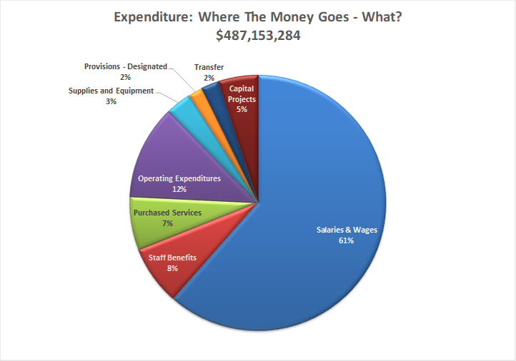 Graph of Expenditure: Where the Money Goes - What?