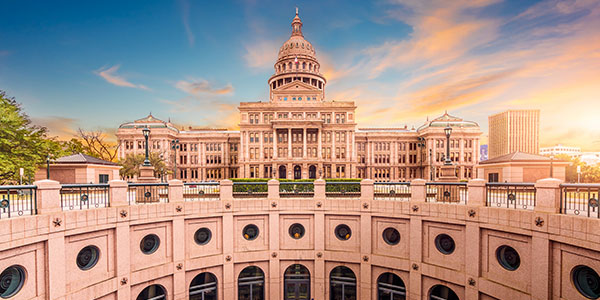 Texas Capitol building in Austin.