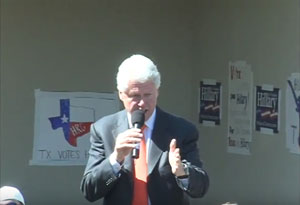 Bill Clinton speaks at Mountain View