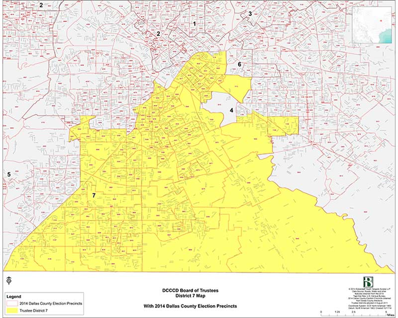 DCCCD Board of Trustees District 7 Map