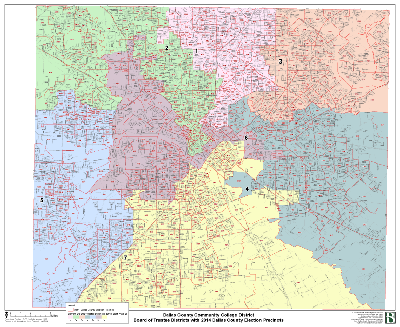 DCCCD Board of Trustees District Map