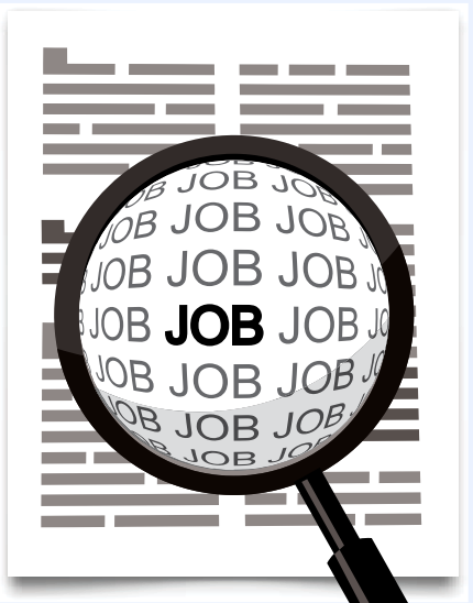 Job search with a magnifying glass