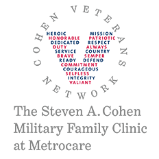Cohen Veterans Network The Steven A. Cohen Military Family Clinic Logo