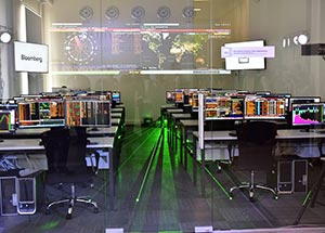 Replica of Bloomberg Finance Lab at Dallas College Richland Campus. Photo courtesy of Bloomberg