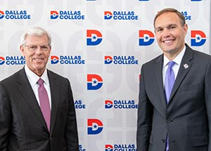 Dallas College Chancellor Joe May and Tarleton President James Hurley