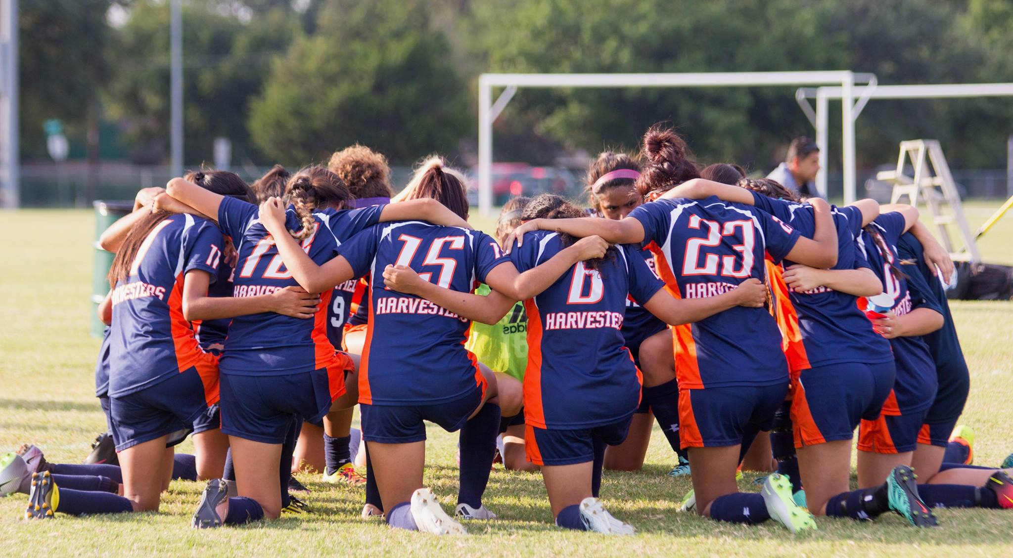 Eastfield Women's Soccer Team Huddle